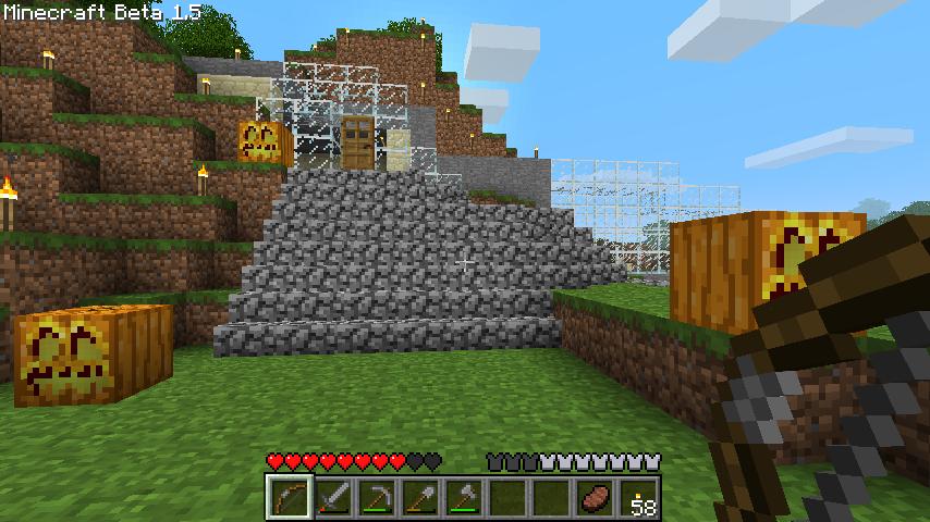 Minecraft始めました