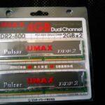 UMAX Pulsar DCDDR2-4GB-800を購入