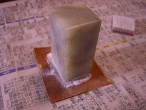 紙やすりを使用