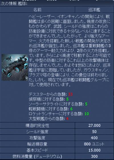 巡洋艦詳細