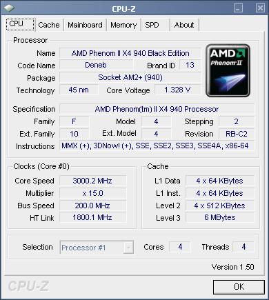 CPU-Z情報画面