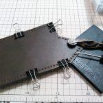 革で鉈ケースを作る