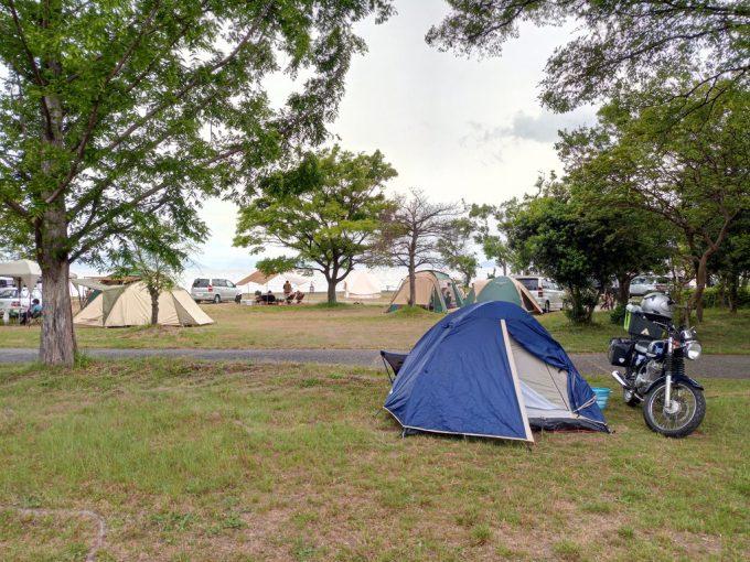 六ツ矢崎オートキャンプ場で春キャンプ