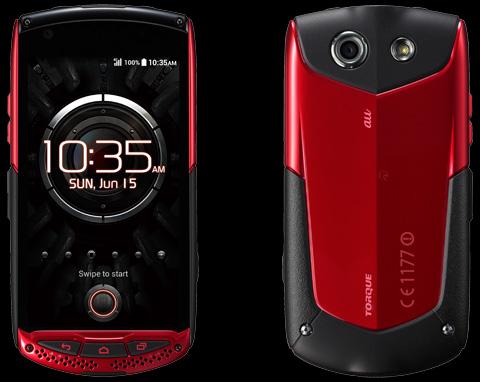 auから新スマートフォン「TORQUE」